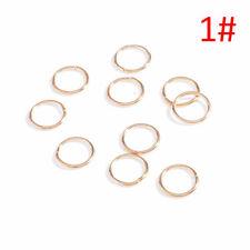 50pcs Hip-Hop Braid Gold Silver Ring Hair Clip Pin Accessory Clips Hair COO R0S9