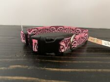Dog Collar Small Paisley Pink Bandana Print 9-12 Inch Neck