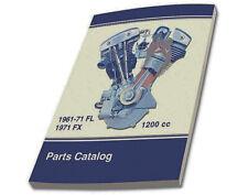 Factory Spare Parts Catalog for Harley 1961 - 1971 Pan & Shovel #99456-71 184 p