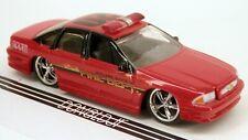 Jada Dub City 1996 Chevrolet Impala Fire Department Staff Car Chevy Diecast 1/64