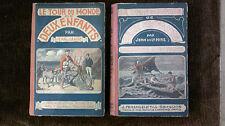 Jean de la Hire Le tour du monde de deux enfants 1912 Reliure des 71 N°  RARE