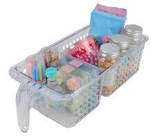 4 x Novo 2 Section Kitchen Tidy Storage Basket For Jar Bottles Organiser Holder
