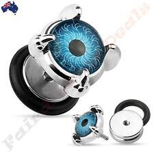 316L Surgical Steel Front Set Eyeball Fake Ear Plug