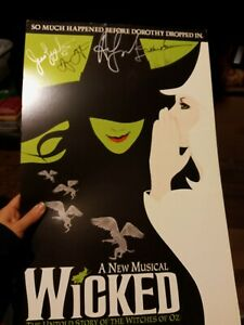 Wicked The Musical original Cast Signed Window Card