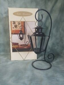India House Table Lantern, Decorative  Indoor/Outdoor wrought iron/glass ⊙