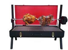 Portable Camping Spit Roast Rotisserie BBQ with Battery Motor