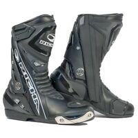 RICHA BLADE CE APPROVED WATERPROOF MOTORCYCLE SPORTS BIKE BOOTS - BLACK