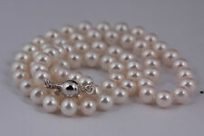Real Freshwater 6mm AA Pearl Necklace & Sterling Silver Clasp - UK Seller