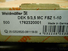 New Weidmuller Terminal Blocks Marker Strips, Pk 500, 1762320001