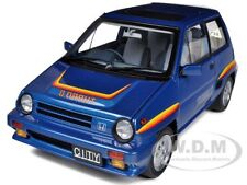 HONDA CITY TURBO II BLUE W/MOTOCOMPO IN WHITE 1/18 AUTOART 73283