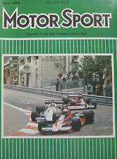 Motor Sport Magazine June 1978 featuring Reliant Scimitar GTE, Fiat