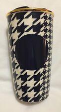 Starbucks Houndstooth Ceramic Tumbler Blue White Mug New 2015 US Ed UK Post