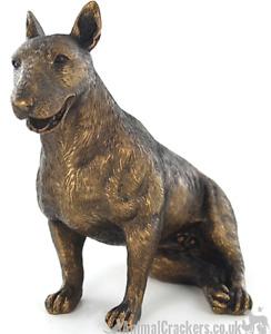 Sitting Bull Terrier ornament figurine decoration bronze effect Dog Lover Gift