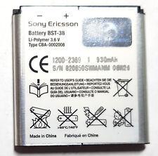 2x Sony Ericsson BST-38 Battery S500 T303 T650 T650 T658 C905 K850 R300 X10 W580