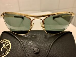 B&L RAY-BAN OLYMPIAN I DELUXE 62[]17 G-15 Arista DLX Bausch & Lomb Vintage USA 1