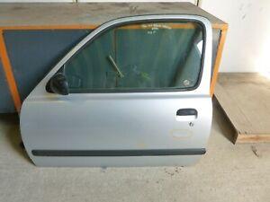 NISSAN MICRA LX K11 1994 N/S PASSENGER SIDE COMPLETE DOOR PANEL IN SILVER KL0