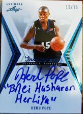HERB POPE 2012-13 Leaf Ultimate Base Inscription Rookie AUTO Autograph Blue #/25