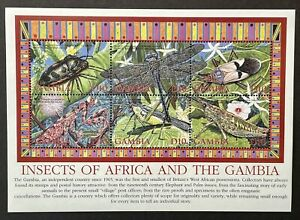 GAMBIA INSECTS OF AFRICA & GAMBIA STAMPS 2003 MNH DRAGONFLY PRAYING MANTIS BUGS