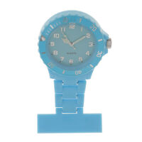 Plastic Nurse Brooch Fob Watch Nursing Nurses Pendant Clip-on Pocket Quartz