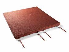 (10,95€/1EA) Fallschutzmatten Rot 50x50x3cm Gummimatten Bodenmatten Matten