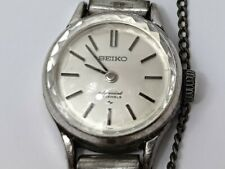 Rare Vintage Seiko Special White Gold Filled 1140-0060 23 Jewels Ladies Watch