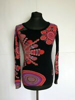DESIGUAL Long Sleeve Top Sweater Shirt Women's Jumper Size S
