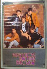 New Kids On The Block Classic 1989 Vintage Full Size Funky Enterprises Poster