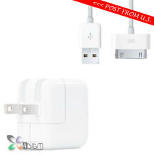 Original Genuine Apple iPhone 3G 3GS 3G S 4 4S AC WALL CHARGER USB Data Cable