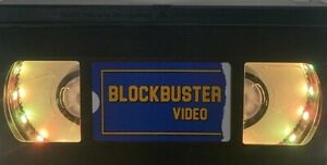 Blockbuster VHS Nightlight (Handmade with battery operated LED's)