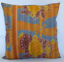 "24"" KANTHA WORK VINTAGE PILLOW SHAM CUSHION COVER THROW BED DECOR TABLE THROW"