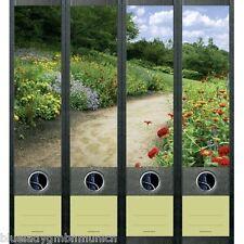 File Art 4x Ordner-Etiketten FLOWERS ALONG THE WAY RÜCKENSCHILDER Sticker 455