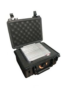 Waterproof Graded Sports Card Storage Box Locking Case Foam Lined PSA BGS SGC