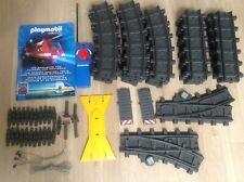 Playmobil train tracks straight curved remote control extras bundle