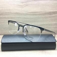 71a1ec57d47 Prada VPR63U Eyeglasses Black Ruthenium Grey 1AB-1O1 Authentic 54mm