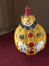 Antique Composition Paper Mache Clown Roly Poly Toy German