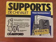 Brand New Crawford All Steel Quick-Assemble Sawhorse Brackets Nib Large Size 89