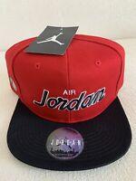 Air Jordan X Nike Jumpman Pro Scipt Classics Snapback Black Red Cap Hat NEW