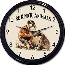 Animals Dog Wall Clock Be Kind To Animals Cats Kittens Puppies New 10""
