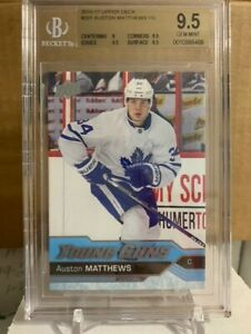 AUSTON MATTHEWS 16-17 Upper Deck YOUNG GUNS ROOKIE RC 201 BGS 9.5 GEM MINT LEAFS