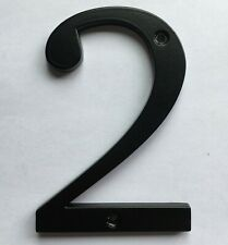 100 mm 4 inch House number Letterbox number door number black 2