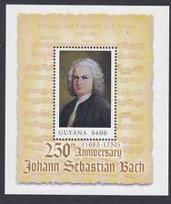 GUYANA:2000 Death Anniversary of J S Bach m/sheet SGMS5877 MNH