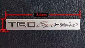 TRD SPORTIVO 3D EMBLEM BADGE STICKER DECAL ALUMINIUM 7.0X1.0cm
