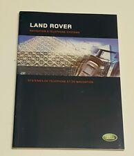 2007 LAND ROVER SPORT NAVIGATION SYSTEM OWNERS MANUAL SUPERCHARGED V8 4.4L 4.2L