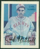 Original Autograph of Carl Hubbell HOF of the NY Giants, 1935 Chicle reprint