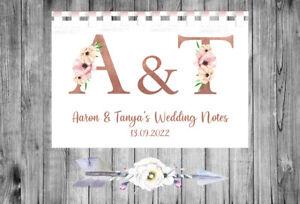 Personalised Wedding Planner Notebook Journal Organiser Checklist Bride A5 59