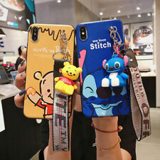 Cute Disney Stitch And Winnie The Pooh Phone Case Cover For iPhone 11 Max X XR X