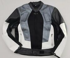 Vintage 80s 90s Leather Jacket Color Block Motorcycle Hip Hop Urban Men's Large