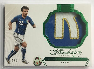 2015 Panini Flawless Match-Worn Patch Giuseppe Rossi #1/5 Italy