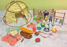 Pocahontas Powhatan Village Play Set Figurines Disney Lot Doll Accessories
