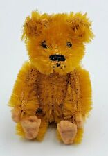 Schuco Picculo Miniature Blonde Mohair Jointed Teddy Bear w/ Felt Pads 2-1/2""